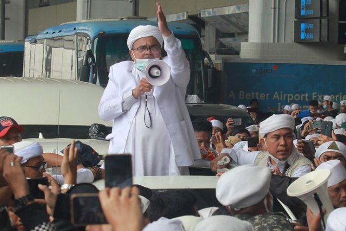 test swab Habib Rizieq